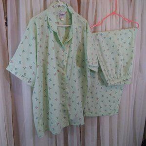 Anthony Richards Green Floral Pajama Set
